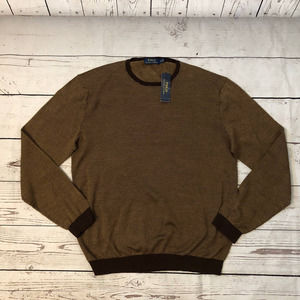 Ralph Lauren Brown Sweater Silk/Cotton NWT 198